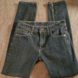 Levi's 511 Dark Wash Skinny Jean's Sz 29W 32L